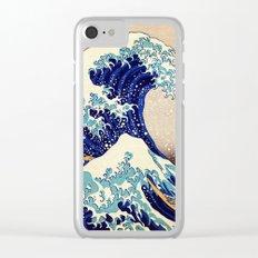 Katsushika Hokusai The Great Wave Off Kanagawa Clear iPhone Case