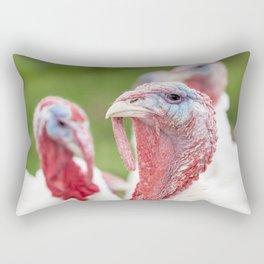an head of an turkey Rectangular Pillow