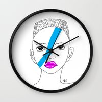 stripe Wall Clocks featuring Stripe by ARAJUA