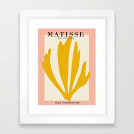 Henri matisse the cut outs contemporary, modern minimal art Framed Art Print