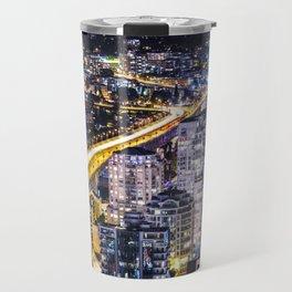 Voyeuristic 1428 Vancouver Cityscape Golden Bridge Travel Mug