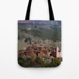 Village Among Hills Tote Bag