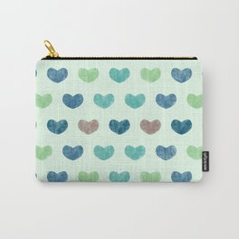 Colorful Cute Hearts V Carry-All Pouch