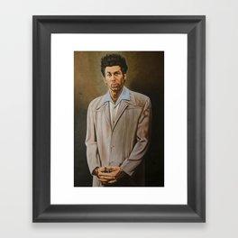Kramer Seinfeld painting Framed Art Print