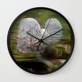 Intertwined Mushrooms Wall Clock