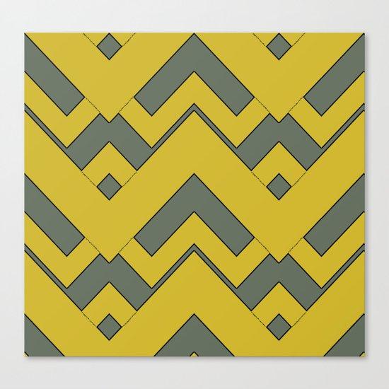 zig zag mustard Canvas Print