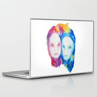 sisters Laptop & iPad Skins featuring Sisters by Caitlyn Murphy