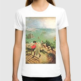 Landscape With The Fall Of Icarus Painting Pieter Bruegel The Elder T-shirt
