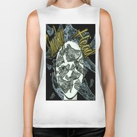 sneaker Biker Tanks featuring Sneaker Head by lilbudscorner