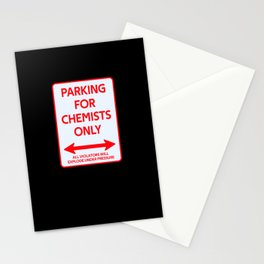 Chemical Parking sign Scientists Stationery Cards