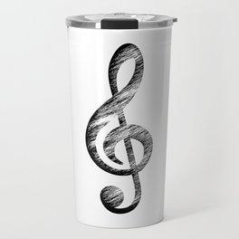 Distressed Music Clef Travel Mug