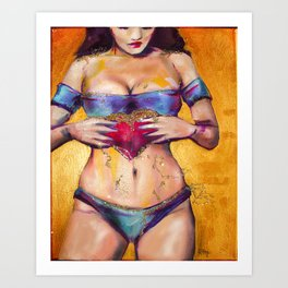 Glitter Women Series, #7 Art Print