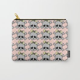 Hair Bow Skull Carry-All Pouch