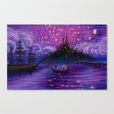 The Lantern Scene Canvas Print