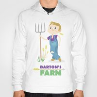 clint barton Hoodies featuring Clint Barton the Farmer by Alice Wieckowska