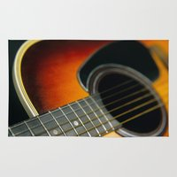 guitar Area & Throw Rugs featuring Guitar by Bruce Stanfield