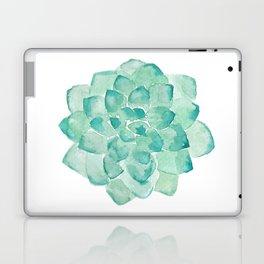 Watercolor Succulent print in seafoam green Laptop & iPad Skin