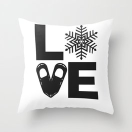Snowshoeing - I LOVE Snowshoes Throw Pillow