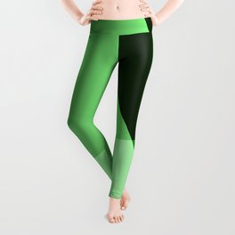 Four shades of green. Leggings