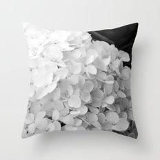 White flowers no.2 Throw Pillow