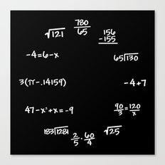 Math Mathematics Formulas Clock :: Solve the Time Canvas Print