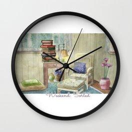 Weekend: Sorted - Watercolor Painting Wall Clock