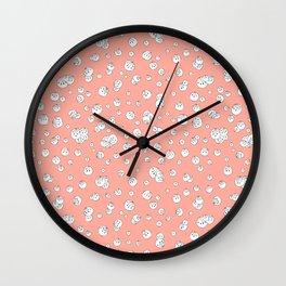 Balls on Pink Wall Clock