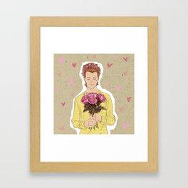 Flower Power  - Hot Pink Framed Art Print