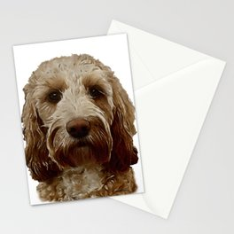Apricot Cockapoo / Doodle Dog  Stationery Cards