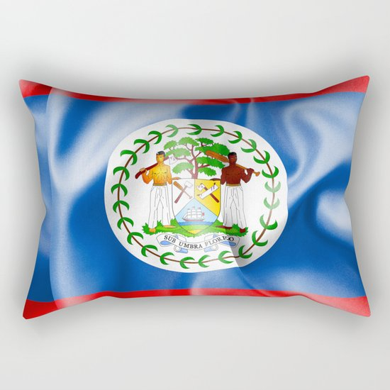Belize Flag Rectangular Pillow