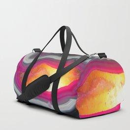 Pink Geode Glow Duffle Bag