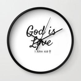 God is Love - Religious Art Wall Clock