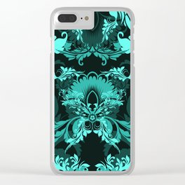 floral ornaments pattern uw Clear iPhone Case