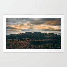 Hilltop Sun Art Print