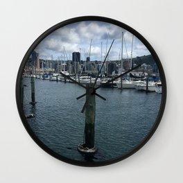 Boats In Chaffers Marina Wall Clock