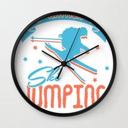 ski jumping ski jumping hill winter snow ski Wall Clock