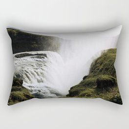 Gullfoss waterfall in Iceland - Landscape Photography Rectangular Pillow