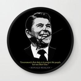 Ronald Reagan Quote Wall Clock