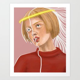 Angel Baby Art Print