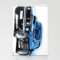 muscle Stationery Cards featuring american muscle  by Moonlight Creations