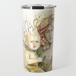 Mother Earth to her child Travel Mug