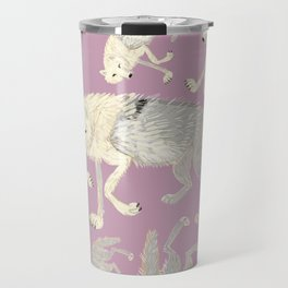 Totem Artic Wolf lilac Travel Mug