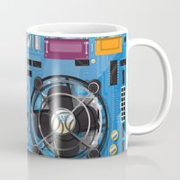 computer Mugs featuring Computer Motherboard by Nick's Emporium