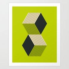 CUBES (8) Art Print