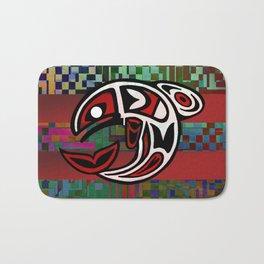 Salmon Totem Bath Mat