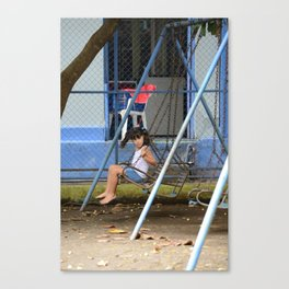 Swinging Barefoot Canvas Print