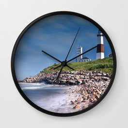 New York City USA Nature Lighthouses Coast stone Stones Wall Clock