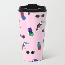 Tropical Print Take 2 Metal Travel Mug