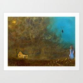 Anna in the Dustbowl Art Print