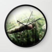 grass Wall Clocks featuring grass by emegi